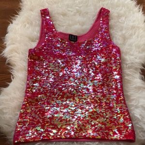 I•N•C International Concepts Pink Sequin Top M